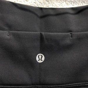 lululemon athletica Shorts - Lululemon black hi waist shorts sz 6 62421